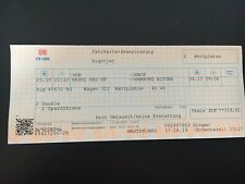 Nightjet Ticket Double Abteil 25. Oktober ab Basel Bad nach Hamburg (Altona)