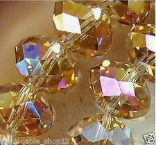 Wholesale 98Pcs New Yellow Crystal Loose AB Beads 4*6mm
