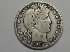 1915-s US Barber Half Dollar (F w/ Full Liberty).  #15