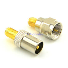 TV Male Plug to SMA Female Jack Adapter+SMA Female to F Male Coaxial Connector