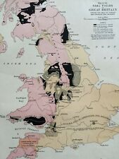 1875 Coal Fields of Great Britain Framed Original Antique Map UK Coal Mining Map