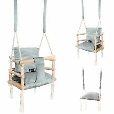 Babyschaukel Kinderschaukel Holz Babysitz zum Aufhängen Gartenschaukel 3 in 1