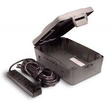 Masterplug Outdoor Weatherproof Power Box Kit IP54 4 Gang Socket Housing 10M