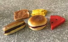 New ListingVintage Play Food Toy Lot Cp hot dog fries watermelon peanut butter bread Rubber