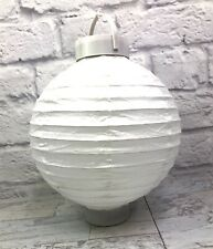 """2 pc White Chinese Paper Lanterns Party Decorations 10"""" Battery powered lights"""