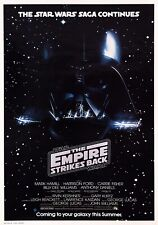 STAR WARS: EMPIRE STRIKES BACK Classic 80's Vintage Movie Poster Wall Art Print