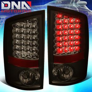 CLEAR LENS SMOKED LED TAIL BRAKE LIGHT/LAMP FOR 02-06 DODGE RAM 1500/2500/3500