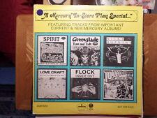 PROMO MERCURY LP RECORD/IN STORE PLAY SPECIAL/SPIRIT/FLOCK/LOVE CRAFT/GREENSLADE
