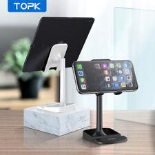 TOPK Adjustable Mobile Phone Tablet Holder Desktop Stand Desk Mount Cell Phone
