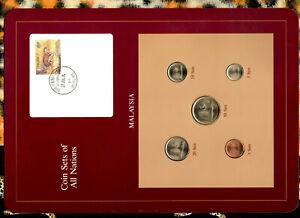 Coin Sets of All Nations Malaysia 1981-1983 UNC 1,50 Sen 1983 20, 5 Sen 1982