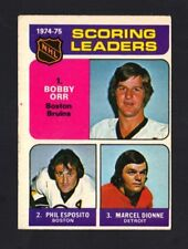 1975-76 OPC ORR / ESPOSITO / DIONNE #210 SCORING LEADERS EX (REF 5443)