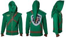 Felpa Link - Zelda verde con cappuccio  - Taglia L   Nuova Imballata