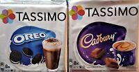 2 X Packs Tassimo Oreo & Chocolate Caliente Cadbury T Discos Cápsulas - 16