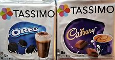 2 Packs Tassimo Oreo & Tassimo Cadbury Hot Chocolate T Discs Pods - 16 Drinks