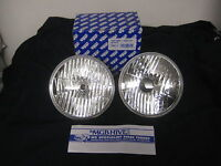 "MG NEW PAIR   HALOGEN  7"" STYLISH HEADLAMPS AND 60/55 BULBS WITH PILOT ***X2B"