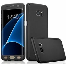 4FullBody360 Protection Front &Back Hard Cover CaseFor Samsung GalexyS7 edge blk