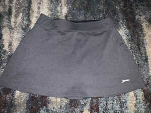Ladies Slazenger Gray Tennis Skort Skirt sz Small