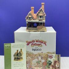 David Winter cottage figurine sculpture Hine nib box coa Porters Lodge member 99