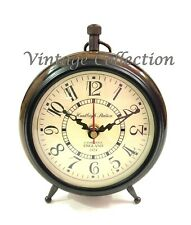 Nautical Wooden Table Clock Vintage Antique Huntleigh Station Desk Decor Clock