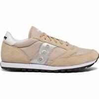 Saucony S2866-269 Men's Jazz Low Pro Sneakers - Tan / Silver - US 11