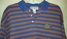 Univ of Florida UF Florida Gators Blue/Orange Striped Polo Golf Shirt Size XL