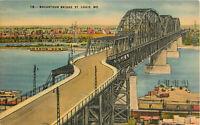 Postcard MacArthur Bridge, St. Louis, MO