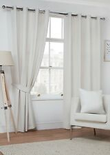 Luxury Plain Soft Faux Suede Fully Lined Blockout Ring Top Eyelet Curtains Pair