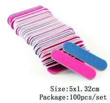 100pcs/Lot Double Side Mini Disposable Nail Buffer Files Sanding Block Grit Prof
