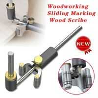 WoodWorking Scribe Wheel Mortise Gauge Scriber Anodizing Wood Sliding Mark Set