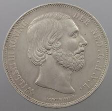 NETHERLANDS 2 1/2 GULDEN 1870  #md 131