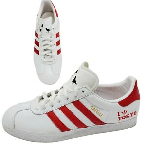 Adidas Gazelle I Love Tokyo Mens Size US 11 White Red Limited Release Sneakers