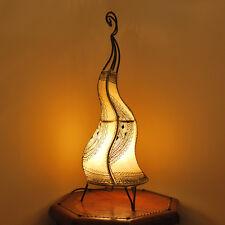 """Orientalische Hennalampe Marokko Lampe Lederlampe Stehleuchte """"Cheval58"""" Natur"""