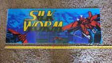 Silk Worm Plexi sign marquee Arcade Game Part 24 x 9