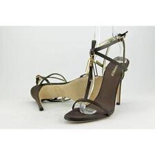 Zapatos de tacón de mujer de tacón alto (más que 7,5 cm) de color principal marrón