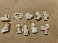 Precious Moments lot of 10 dated ornaments 1997 1998 2004 1994 2005 1995 2010