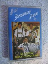 MC Musikkassette Tape Rosenwink Buam Mit Schwung Durchs Chiemgauland Jodleralm