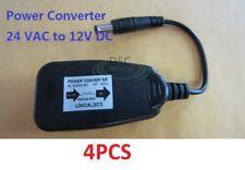 4Pcs 24 V AC to 12V DC Power Reducer Converter Adapter