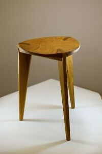 "Oak Stool carved seat, height 45cm - 18"", three legged, Oak Chair, Stool, Chair,"