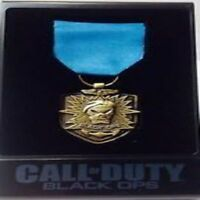 Call Of Duty Black Ops Gold Medal w/ Case Prestige Exclusive Limited Edition