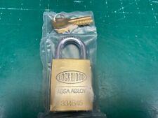 Lockwood ASSA Abloy Brass KIK Padlock 334B45 - Locksmith Locksport