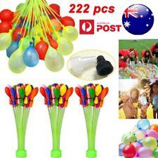 222pcs Balloons Water Bomb Balloon Filling Water Balloon Self Tying Water War AU