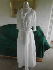 ANTIQUE SNOW WHITE LAWN DRESS, GOOD CONDITION &TRULY AUTHENTIC VICTORIAN