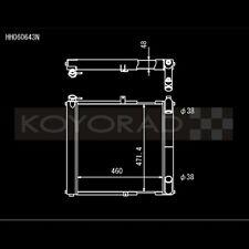 Koyo HH060643N N-FLO Racing Radiator for 89-91 Mazda RX-7 RX7 FC3S