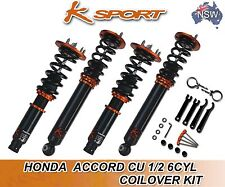 Honda Accord CU 1/2 6CYL Coilovers K-Sport Coilover Full Kit Adjustable