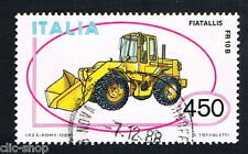 ITALIA 1 FRANCOBOLLO MACCHINA MOVIMENTO TERRA 1986 usato