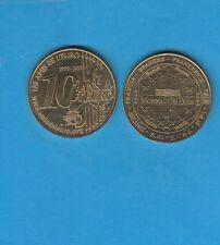 Paris Les Amis de l' Euro 10 Ans de l' Euro  2009 Médaille Monnaie de  Paris