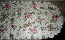 "Dresser Scarf Royal Rose Lace Table Runner  53"" x 15""  Doily  Floral  Flower"