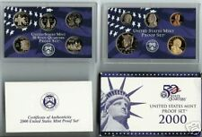 2000 ~~US MINT 10 COIN  PROOF SET~~  WITH STATES