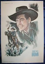 Johnny Mack Brown 11x16 Print from 1973 John Ford Cowboy Kings of Western Fame