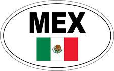 México / Bandera Mexicana en un óvalo con Mex escrito pegatina de vinilo - 20cm X 12cm